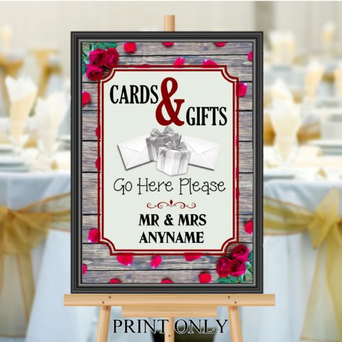 Personalised Wedding Cards & Gifts Sign Poster Banner - Print N182